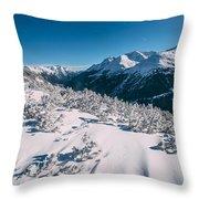 Winter In Tirol Throw Pillow