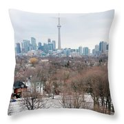 Winter In Toronto Throw Pillow
