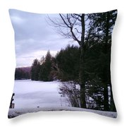 Winter In Vermont Throw Pillow