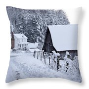 Winter In Virginia Throw Pillow by Benanne Stiens