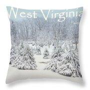 Winter In West Virginia Throw Pillow