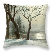 Winter In Yosemite Throw Pillow