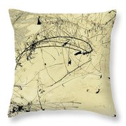 Winter Ink Throw Pillow