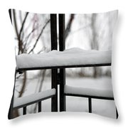 Winter Ironwork Throw Pillow