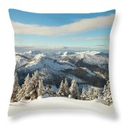 Winter Landscape In British Columbia Throw Pillow