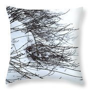 Winter Lavender Throw Pillow