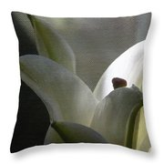 Winter Lily Throw Pillow