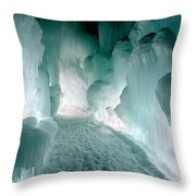 Winter Lit Throw Pillow