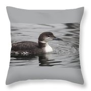 Winter Loon Throw Pillow