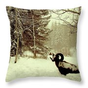 Winter Lost Throw Pillow