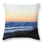 Winter Ludington Shore Throw Pillow