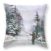 Winter Magic Throw Pillow by Elisabeta Hermann