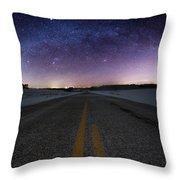 Winter Milky Way Throw Pillow