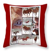 Winter Moments- With The Flashy Paso Fino Stallion Throw Pillow