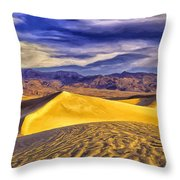 Winter Morning At Death Valley Throw Pillow