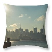 Winter Morning On The Hudson Throw Pillow