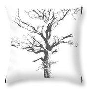 Winter Oak Art Throw Pillow