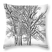 Winter Oaks IIi Throw Pillow