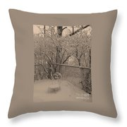 Winter Of One Throw Pillow