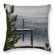 Winter On Lake Coeur D' Alene Throw Pillow
