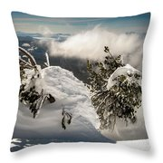 Winter On Mt. Bachelor Throw Pillow