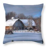Winter On The Farm 14586 Throw Pillow
