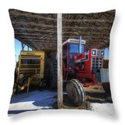 Winter On The Farm Throw Pillow by Eric Gendron