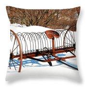 Winter On The Farm Throw Pillow