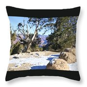 Winter On The South Rim Throw Pillow