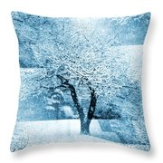 Winter Orchard Throw Pillow