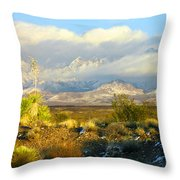 Winter In The Organ Mountains Throw Pillow
