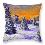 Winter Outlook Throw Pillow by Anastasiya Malakhova