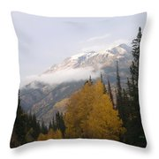 Winter Over Red Mountain Throw Pillow