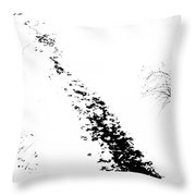 Winter Painting Vi. Ink Drawing By Nature Throw Pillow by Jenny Rainbow