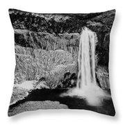 Winter Palouse Falls 3 Throw Pillow
