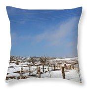 Winter Pasture Throw Pillow
