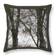 Winter Family Pause  Throw Pillow
