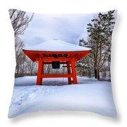Winter Peace Bell Throw Pillow