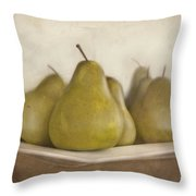 Winter Pears Throw Pillow