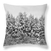 Winter Pine Throw Pillow