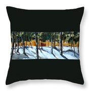 Winter Pines Throw Pillow