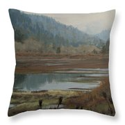 Winter Pond Throw Pillow