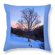 Winter Poplar Tree Throw Pillow