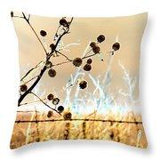 Winter Prairie Throw Pillow