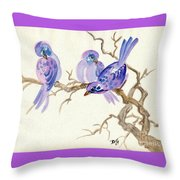 Winter Purple Delight Throw Pillow