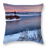 Winter Quiet And Colorful Throw Pillow