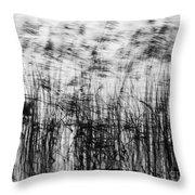 Winter Reeds Throw Pillow