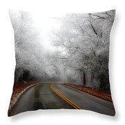 Winter Road Trip Throw Pillow