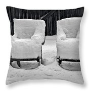 Winter Romance Throw Pillow