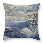 Winter Romance Throw Pillow